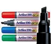 Artline EK-190 Dry Safe Permanent Marker - Chisel Tip