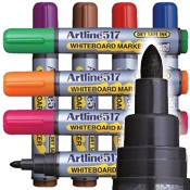 Artline EK-517 Dry Safe Whiteboard Markers 2.0mm Bullet Tip