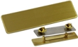 "NBUB1G - Uniform Badge Satin Gold 5/8""x2-1/2"""