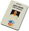 """NBP2 - Digital 2""""x3"""" Multi-Color Name Badge w/ Double Sided Photo"""