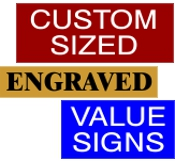 Custom Value Sign